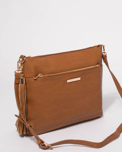 Smooth Tan Medium Walking The Dog Slouch Bag