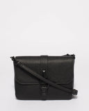 Elissa Black Saffiano Crossbody Bag