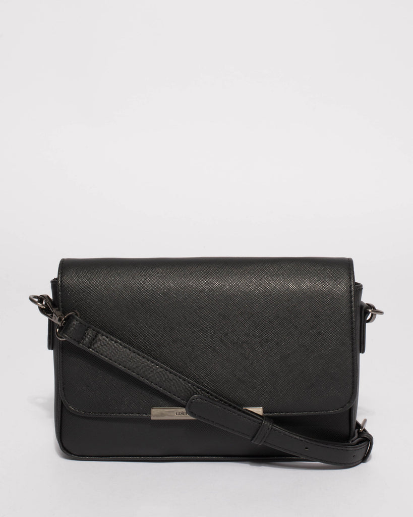 Black Phoebe Crossbody Bag