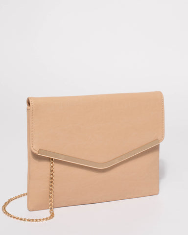 Beige Raquella Clutch Bag