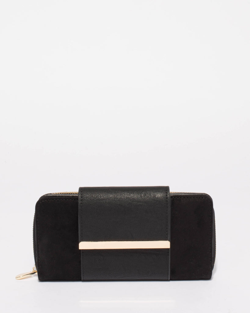 Black Textured Blake Wallet