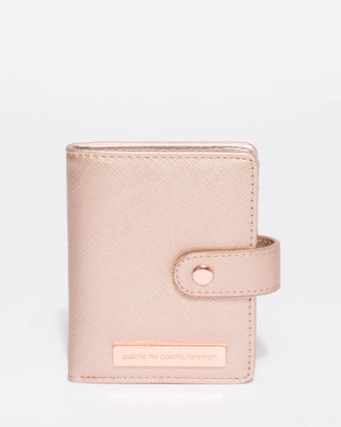 Rose Gold Credit Card Sleeve Purse