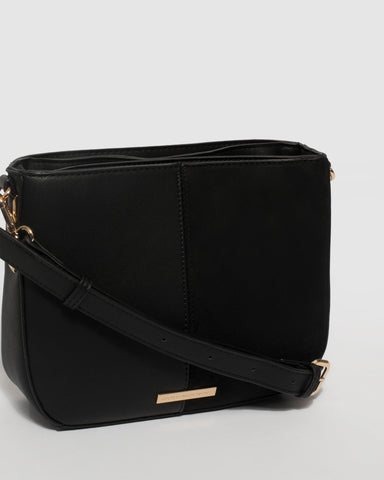Black Melissa Saddle Bag