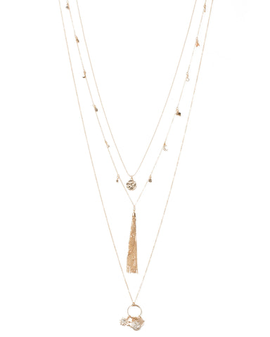 Celestial Charm Tassel Necklace