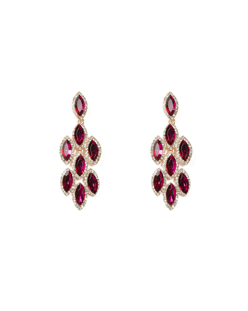Pink Chandelier Pave Earrings