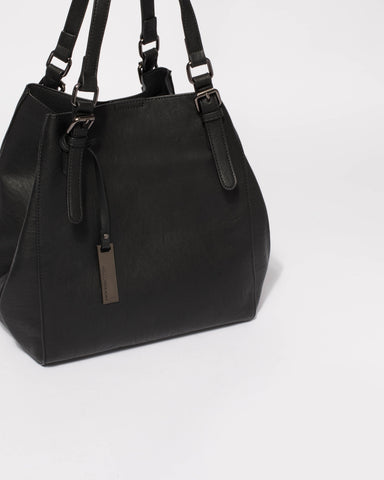 Black Donna Slouch Tote Bag