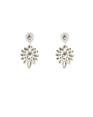Navette Stone Drop Statement Earrings