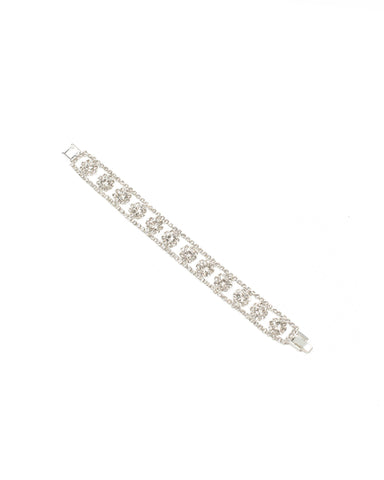 Diamante Flower Chain Wristwear - Small/Medium