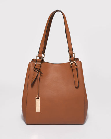 Tan Donna Slouch Tote Bag
