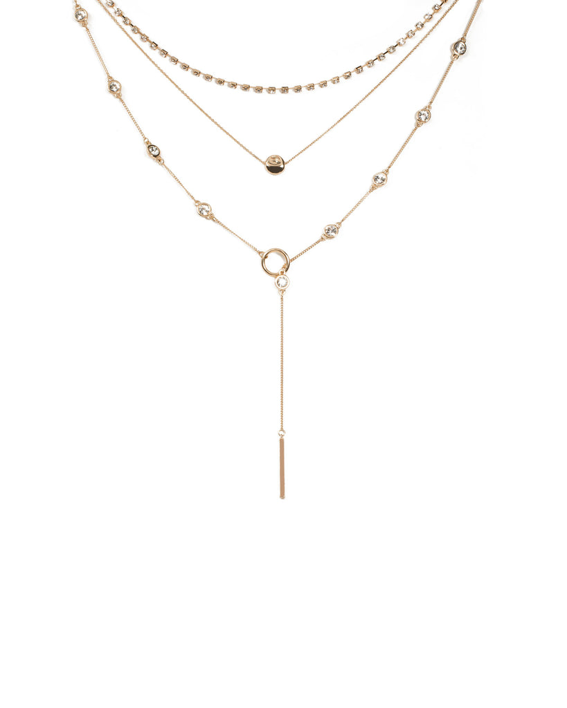 Diamante Lariat Necklace