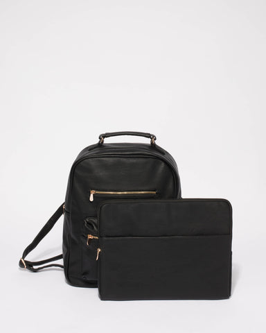 Black Marley Large Backpack