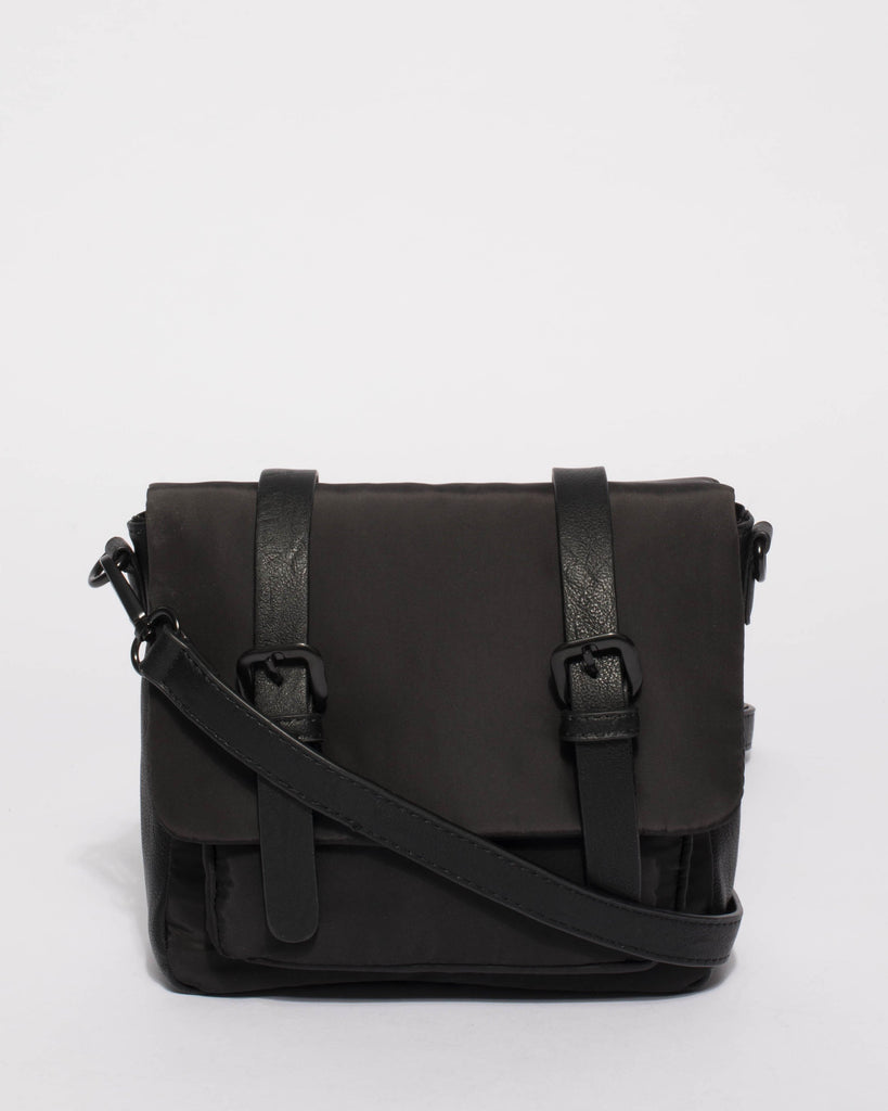 Ali Buckle Black Crossbody