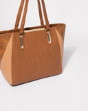 Tan Textured Domi Hardware Tote