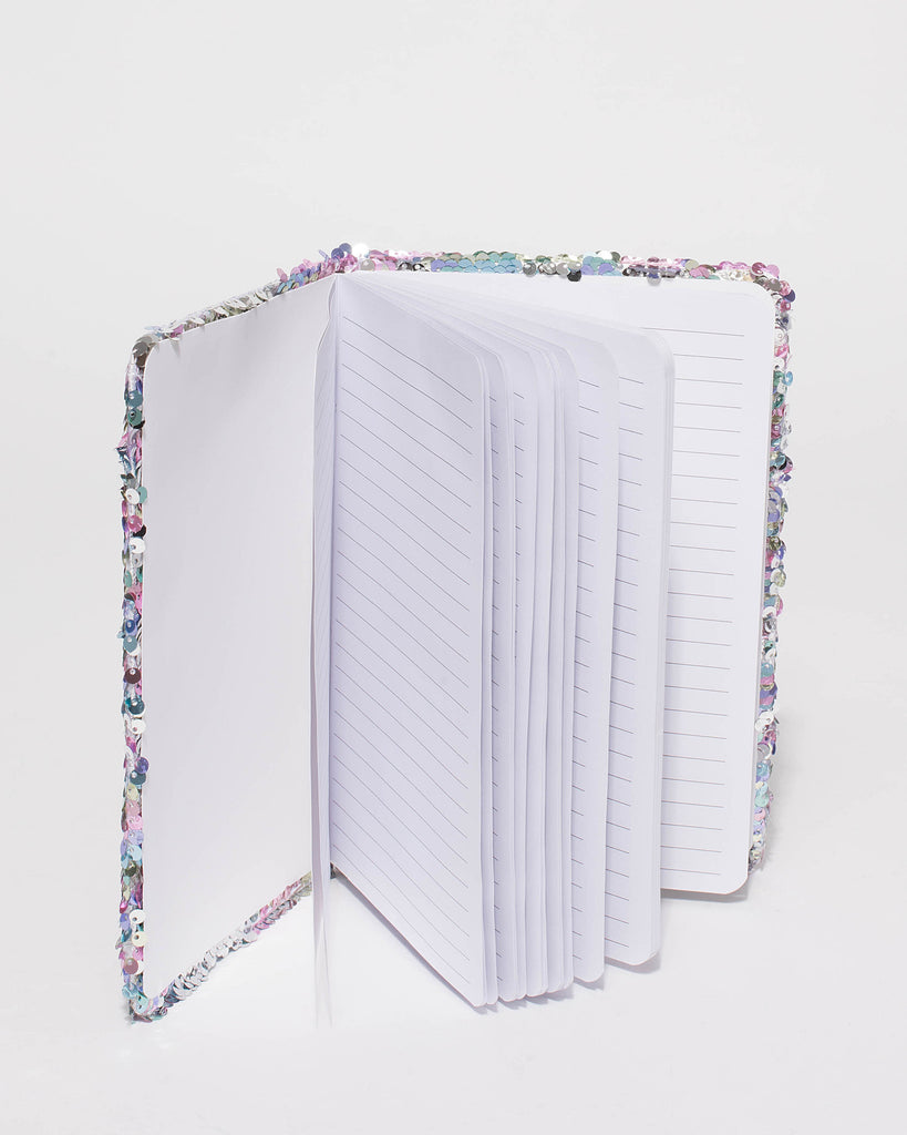 Multi Colour Flipped Sequin A5 Notebook