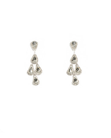 Diamante Statement Tiered Earrings