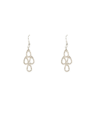 Teardrop Pave Stone Earrings