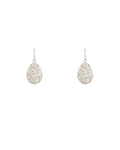 Diamante Pave Teardrop Earrings