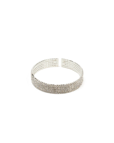 Diamante Flexi Chain Cuff Wristwear