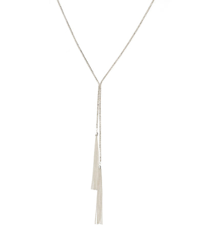 Diamante Tassel Chain Lariat Necklace