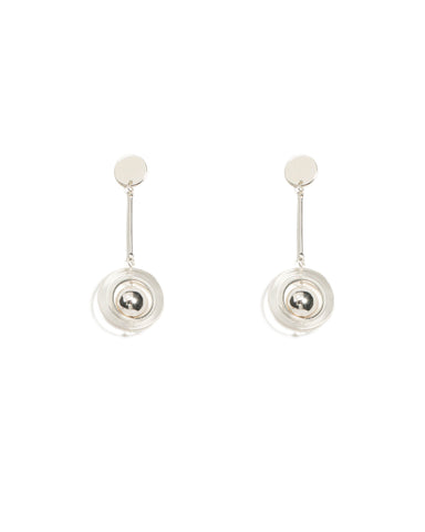 Ball Disc Drop Statement Earrings