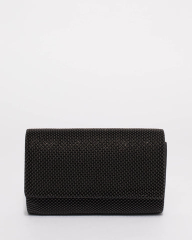 Black Kira Evening Clutch Bag