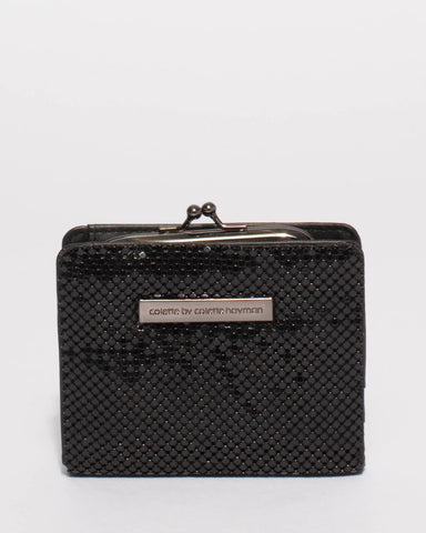 Black Chainmail Serena Mini Wallet