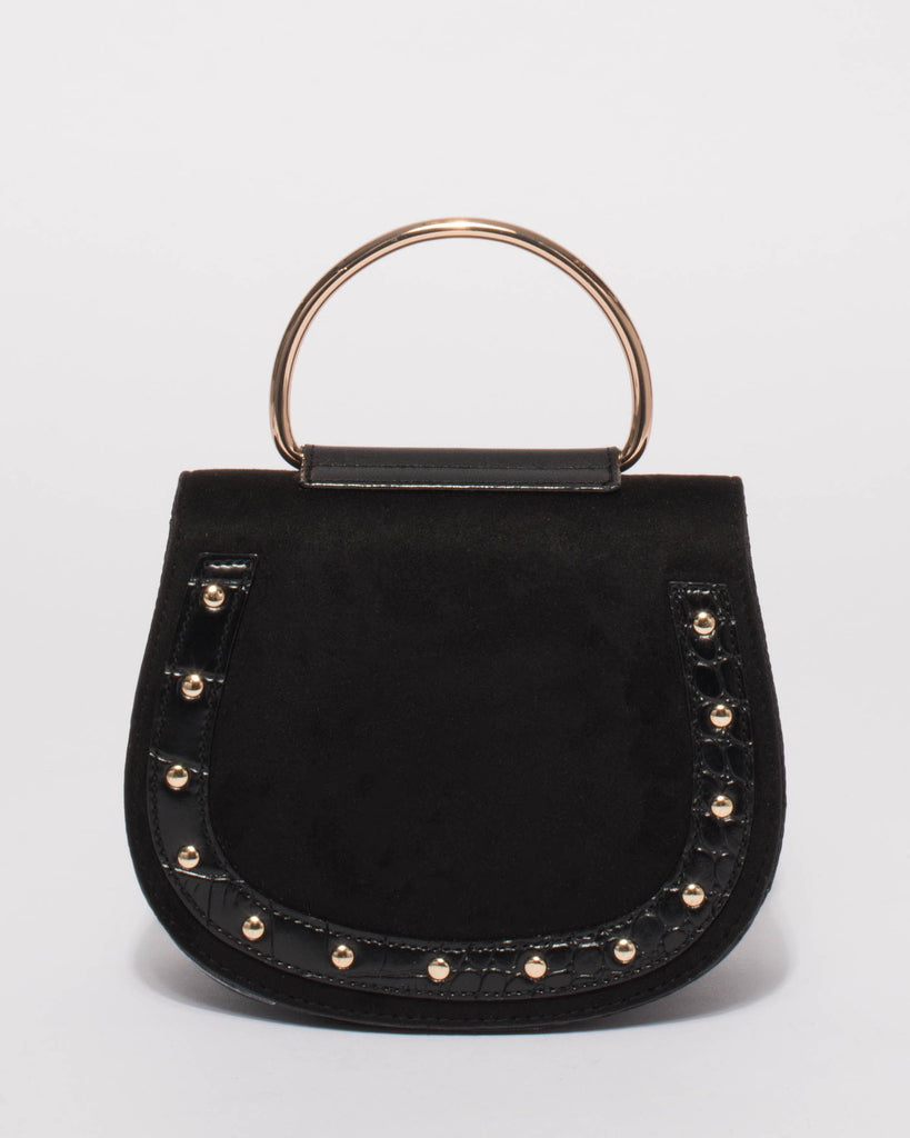 Dallas Black Mini Textured Saddle