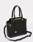 Black Smooth Eve Tag Tote