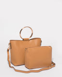 2 In 1 Bailey Caramel Ring Tote