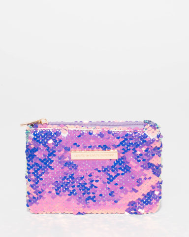 Flipped Sequin Sia Coin Purse