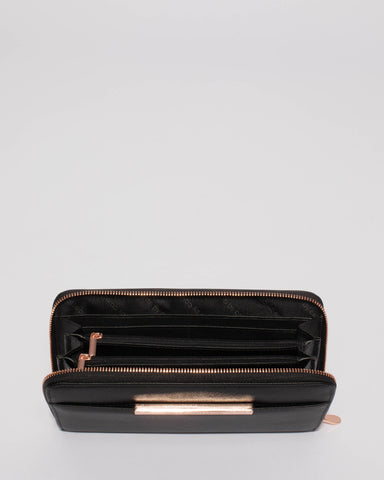 Sandy Black Large Wallet