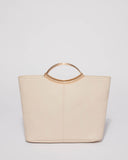 Ivory Smooth Jessie Clutch Bag With Gold Hardware