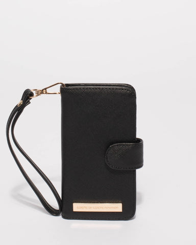 Black Saffiano iPhone X Purse