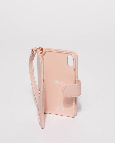 Pink Saffiano iPhone X Purse