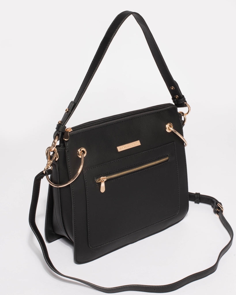 Claire Black Structured Tote