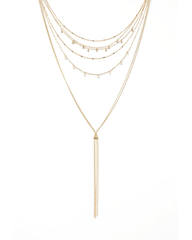 Drop Pearl Fine Layer Necklace