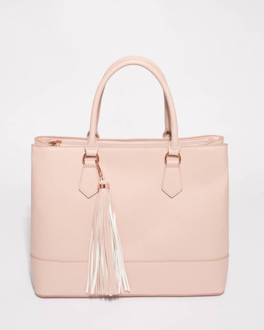 Pink Maria Office Laptop Tote