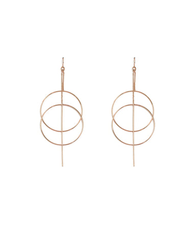 Rose Gold Loop Fine Statement Earrings