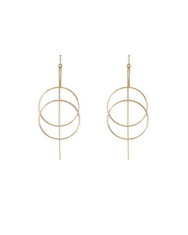 Gold Loop Fine Statement Earrings