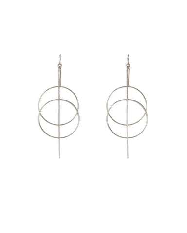 Silver Loop Fine Statement Earrings