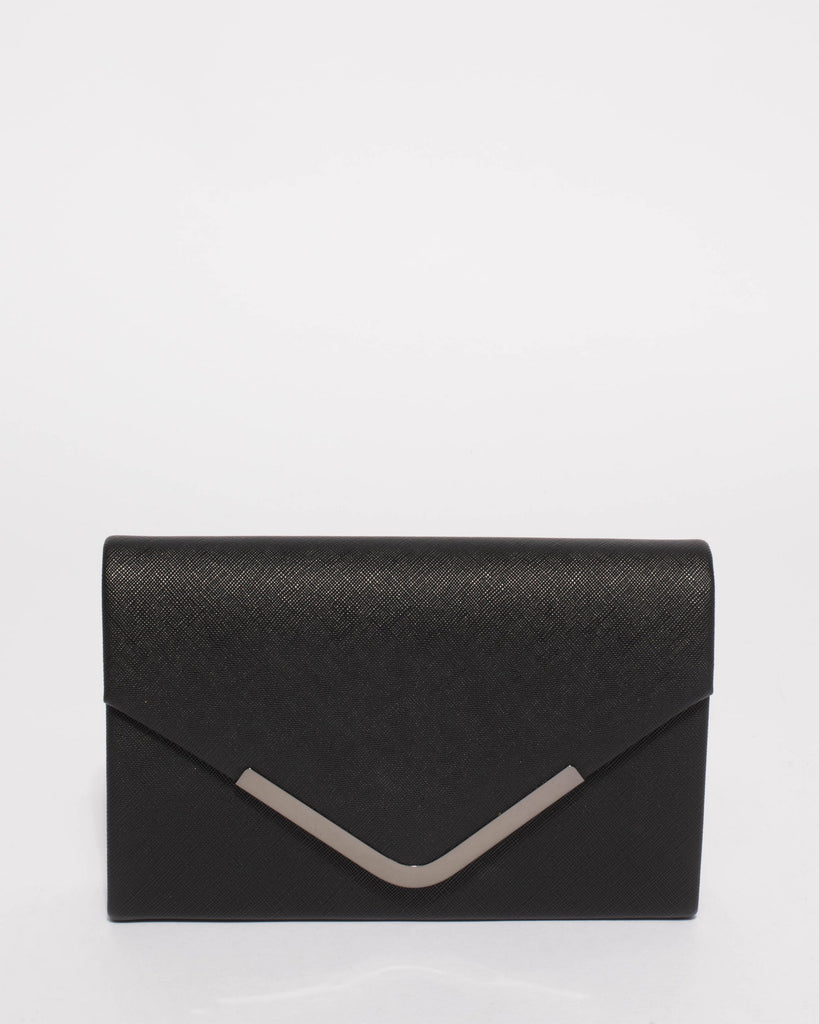 351513f84c Black Lilia Envelope Clutch Bag – Colette by Colette Hayman UK