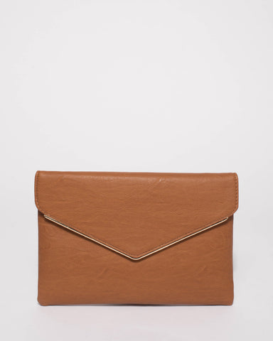 Tan Samantha Clutch Bag