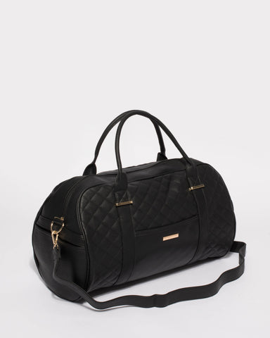 Black Pu Workout Bag