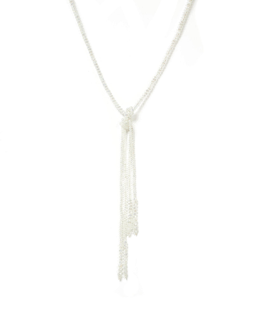 Ivory Beaded Knot Necklace