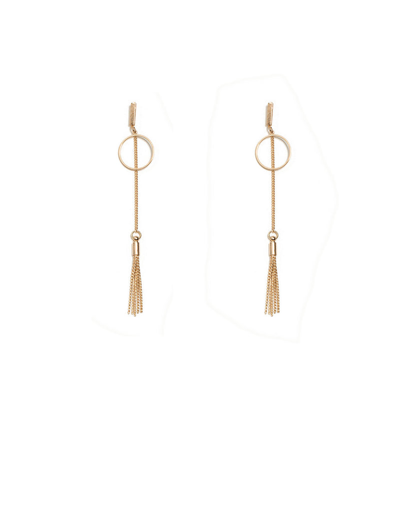 Fine Gold Metal Drop Earrings