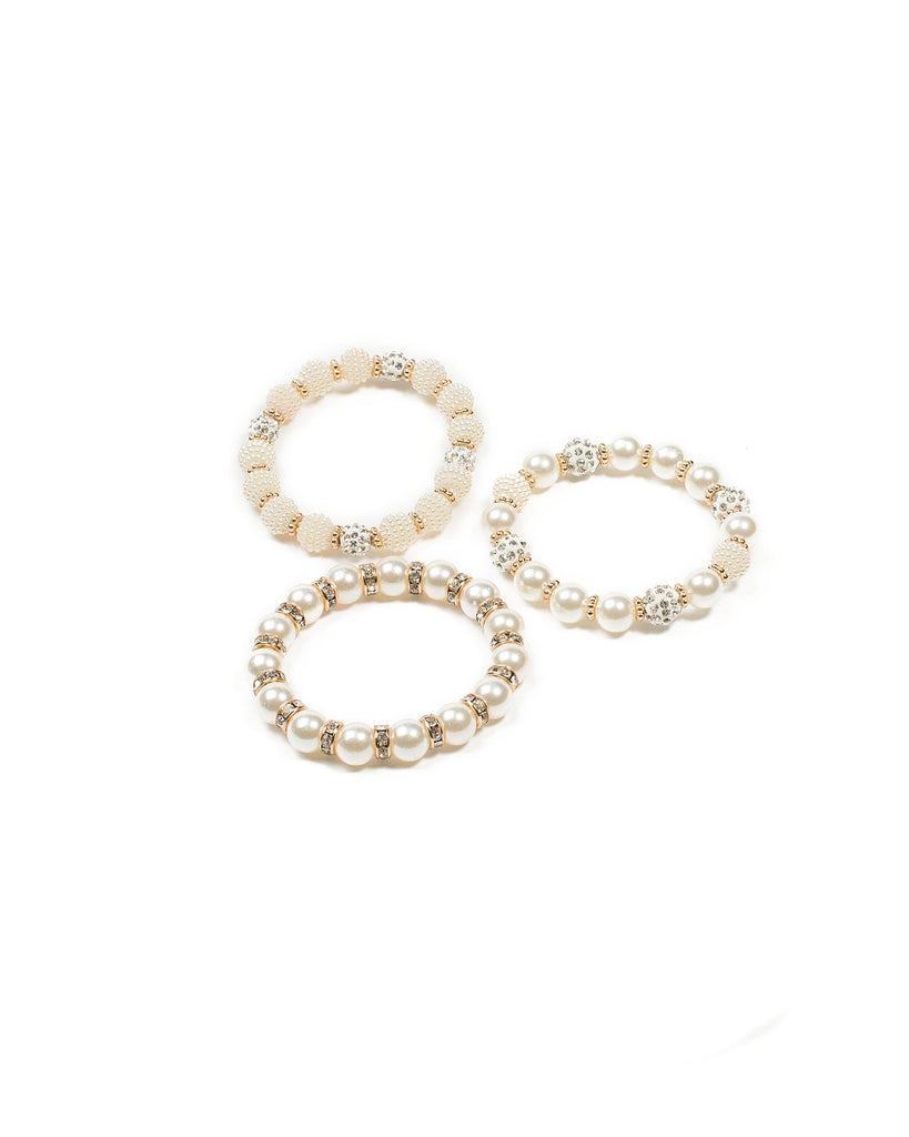 Beaded Ivory Pearl Stretch Wristwear Pack