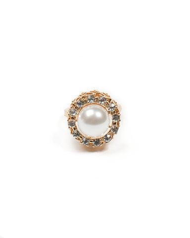 Large Pearl Cocktail Ring - Large