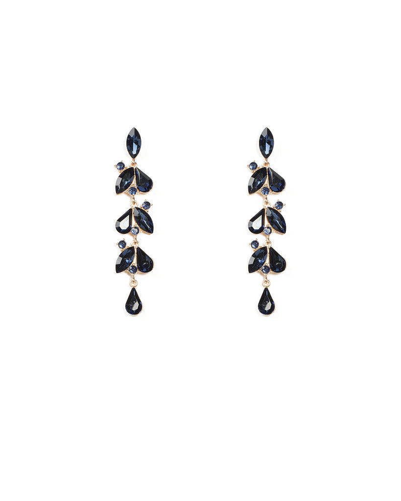 Drop Navy Stone Earrings