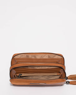 Tan Maia Diagonal Wallet