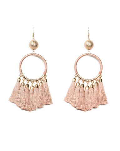 Pink Wrap Around Statement Earring